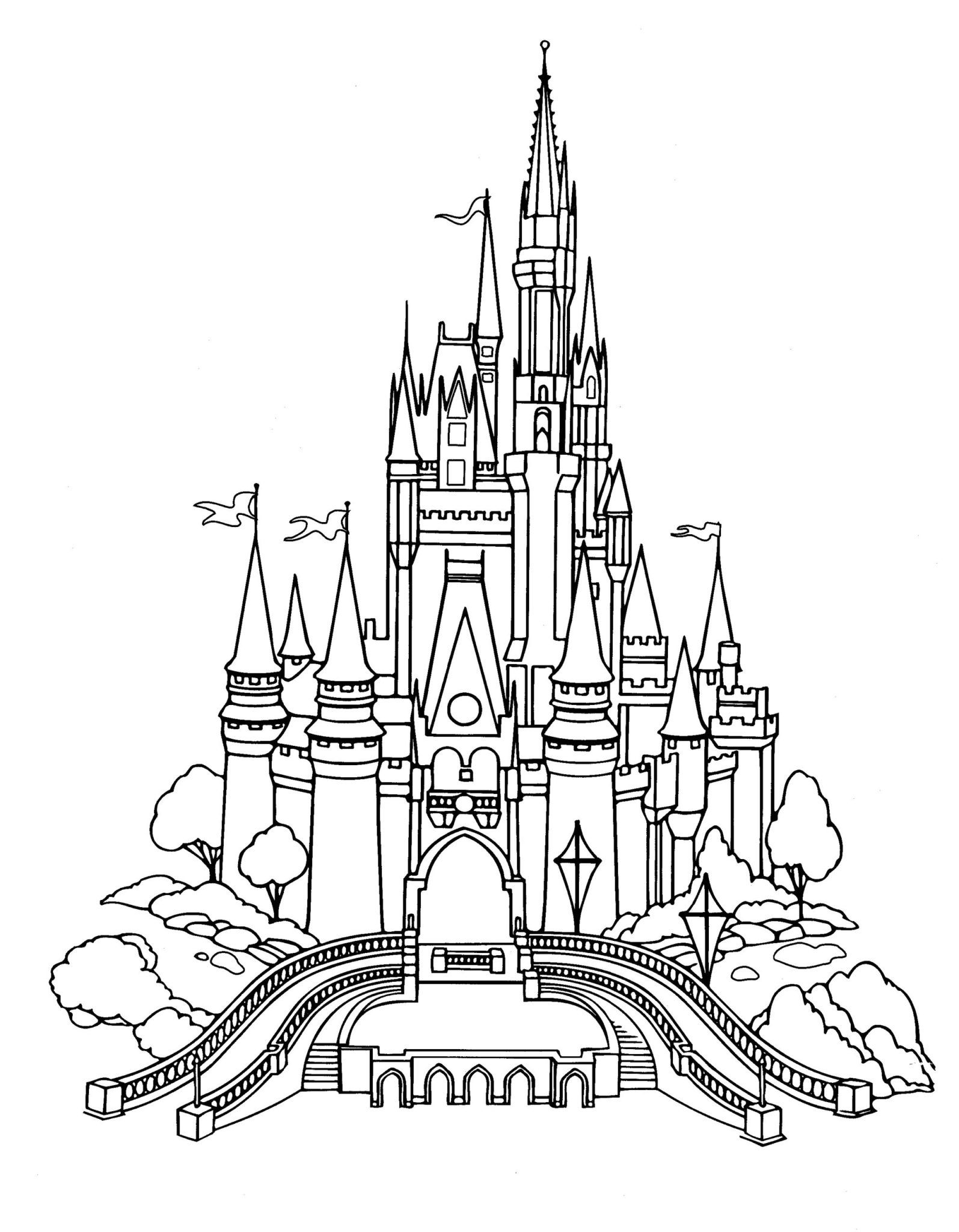 Walt Disney World Coloring Pages The Disney Nerds Podcast Castle Coloring Page Disney Activities Disney Castle Drawing