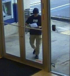 Federal Bureau of Investigation Miami Division  (Robbery) (3/3)  FBI Releases Photographs of a Bank Robbery in Miami  Anyone who has information as to the identity of this bank robber is are urged to call the FBI at (305) 944-9101 or Crimestoppers.