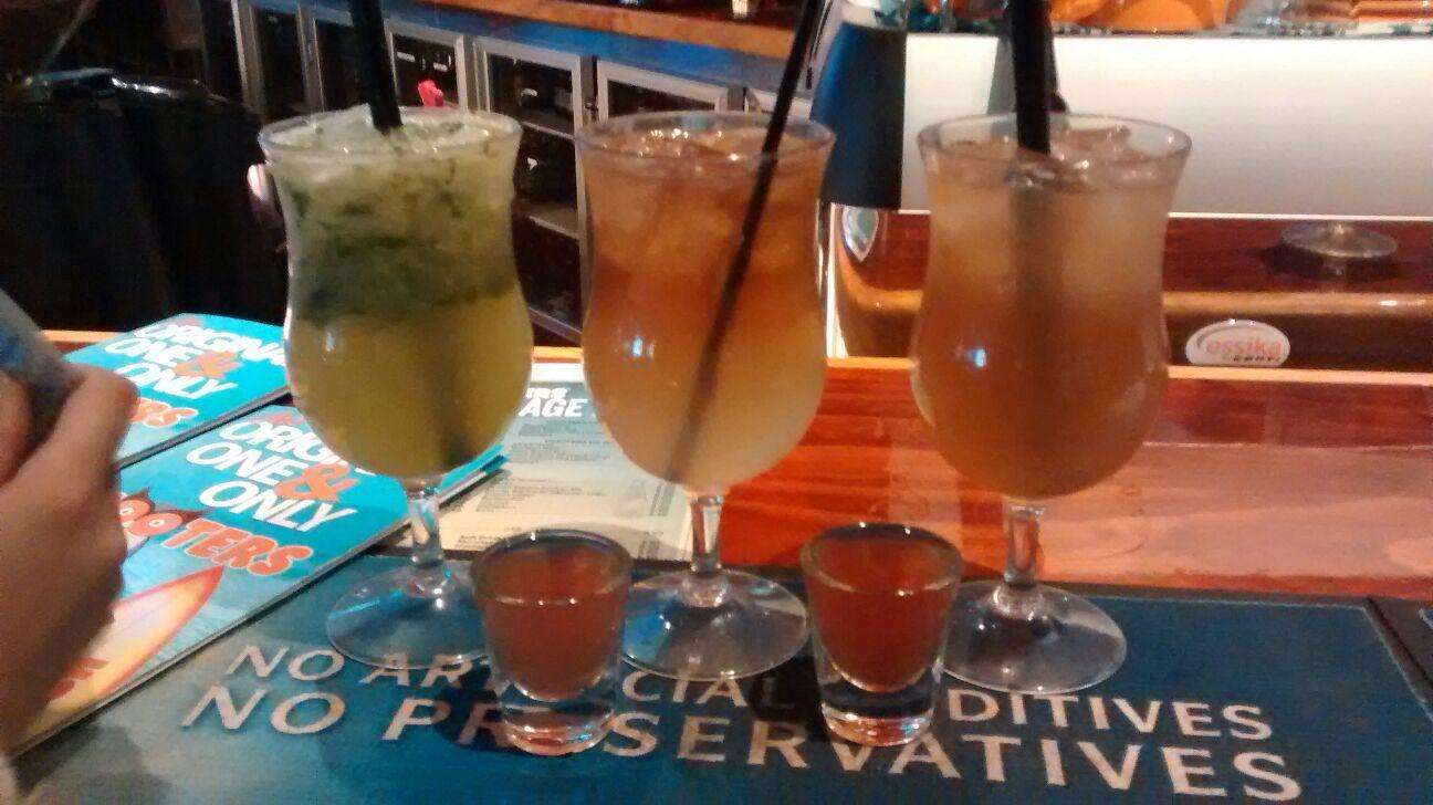 Long Island ice teas and mojitos