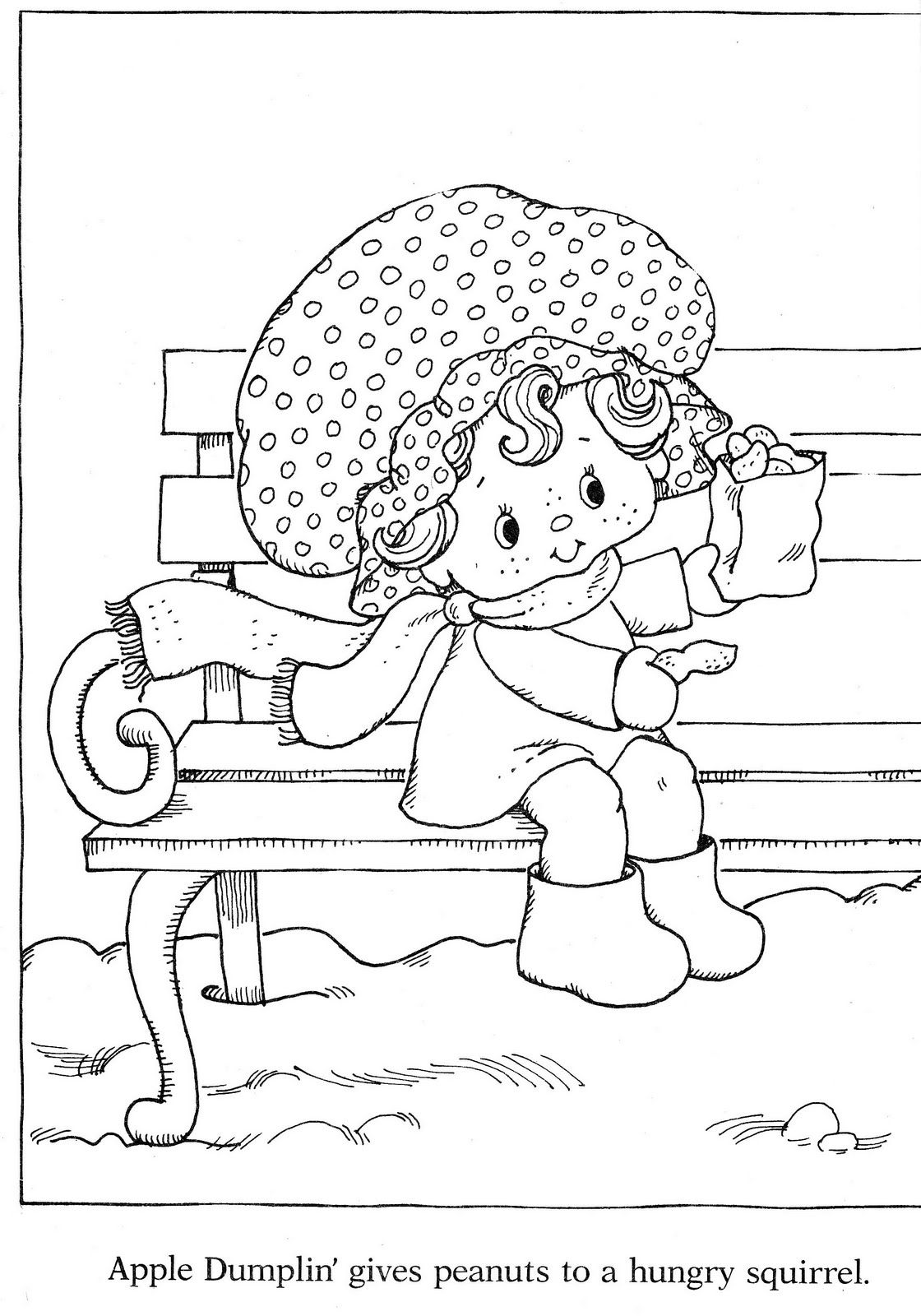 christmas strawberry shortcake coloring pages - photo#22