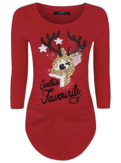 Christmas Top.Maternity Sequinned Christmas Top Read Reviews And Buy