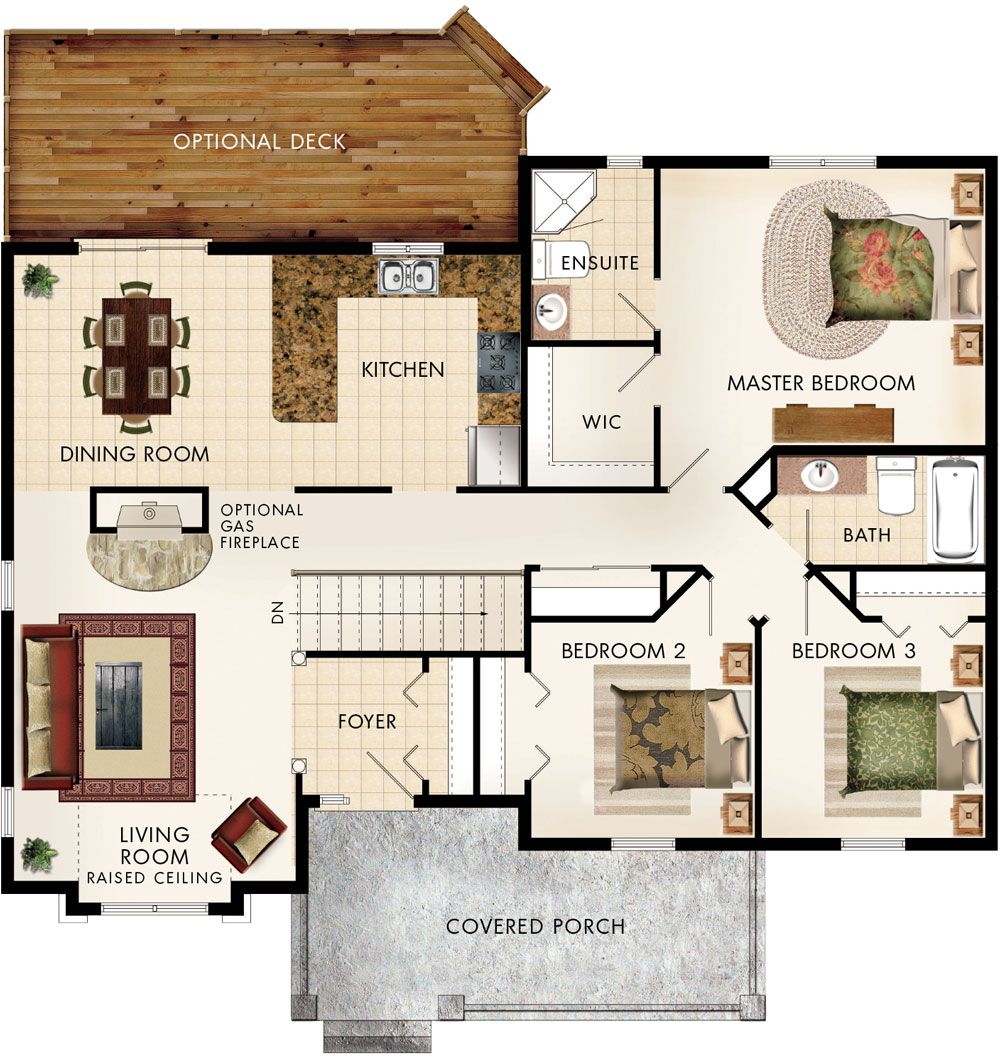 Cottonwood Floor Plan If Have Fireplace On Side Of Living Room And Open  Between Living And Part 70