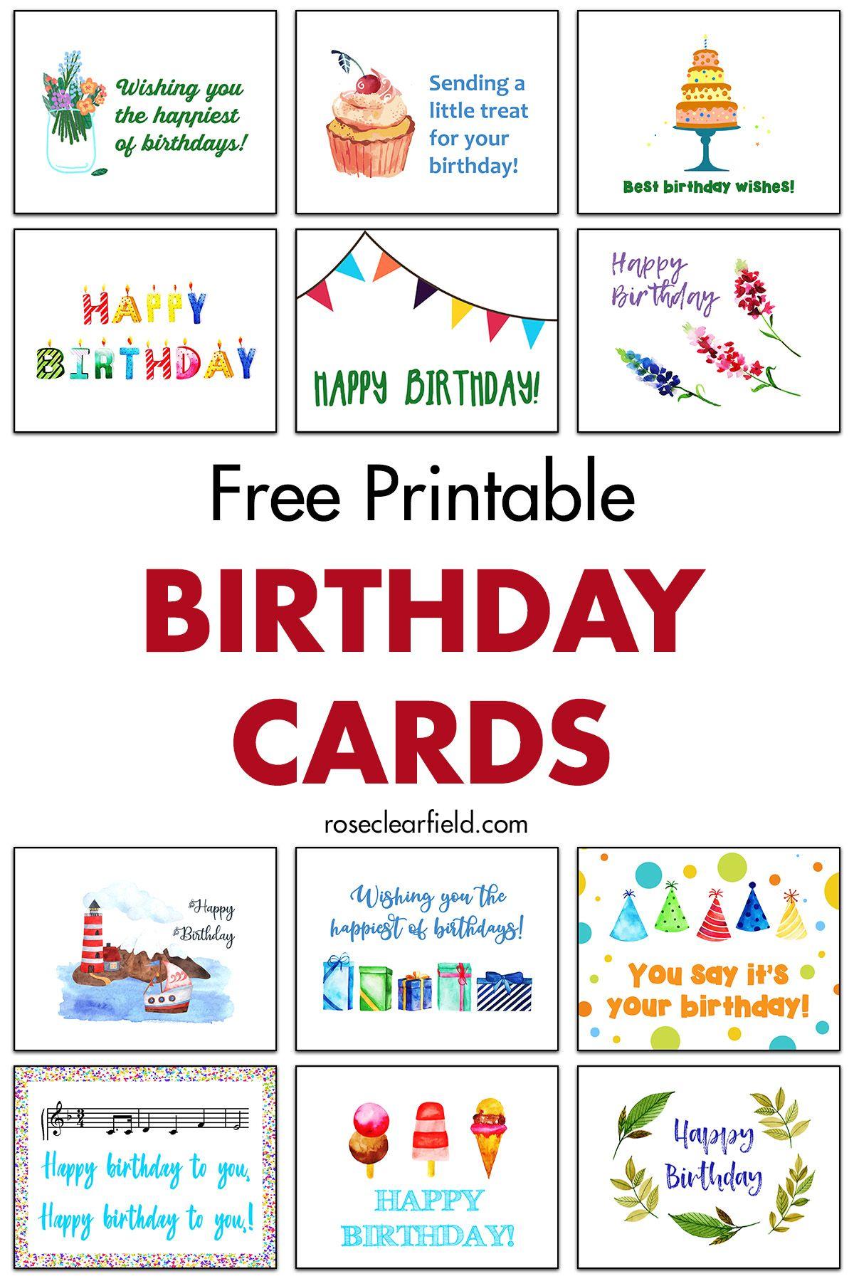 Free Printable Birthday Cards Free Printable Birthday Cards Happy Birthday Cards Printable Birthday Cards To Print