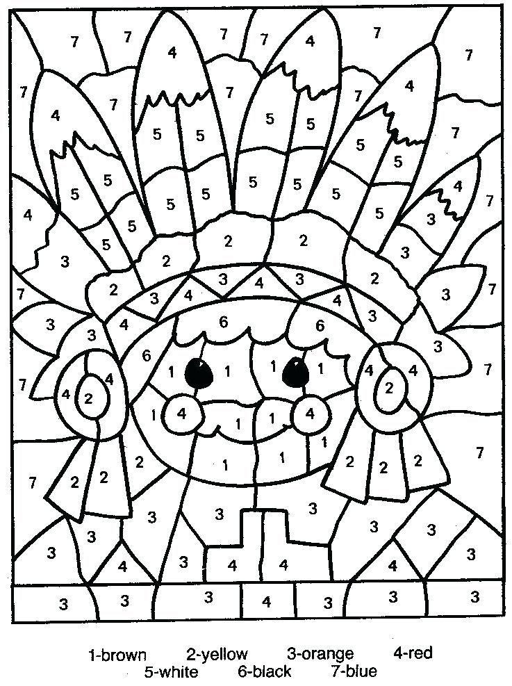 Color By Number Page Color Number Printable Coloring Pages Number Coloring Sheets For Toddlers Maleboger Bornekreativitet Farver