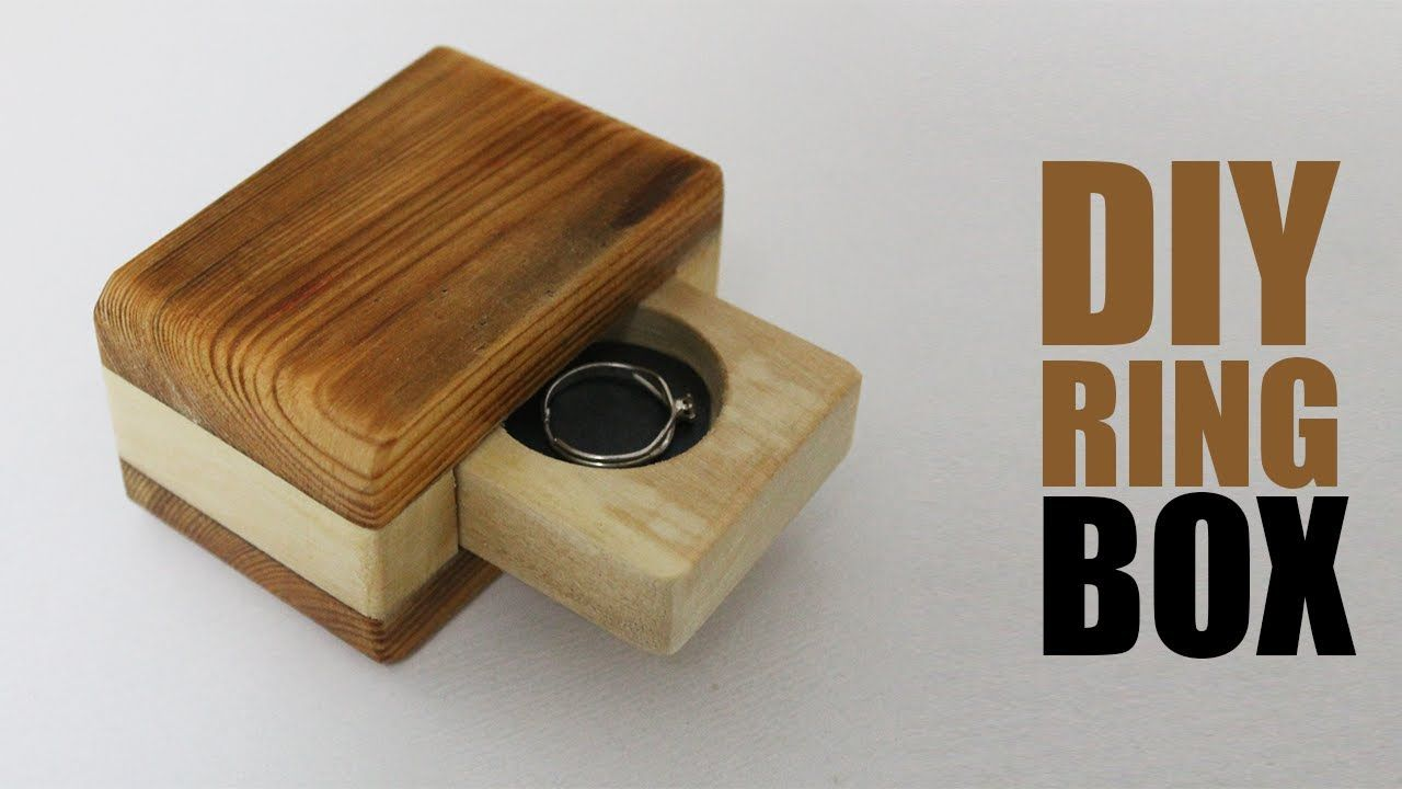 DIY Engagement Ring Box Wood Projects Ideas in 2020