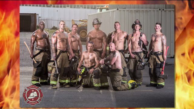 Utah fire fighters stripped down to show off their muscles in a brand new calendar benefiting the American Cancer Society. The guys say they had a lot of fun doing it and have had a great response ...