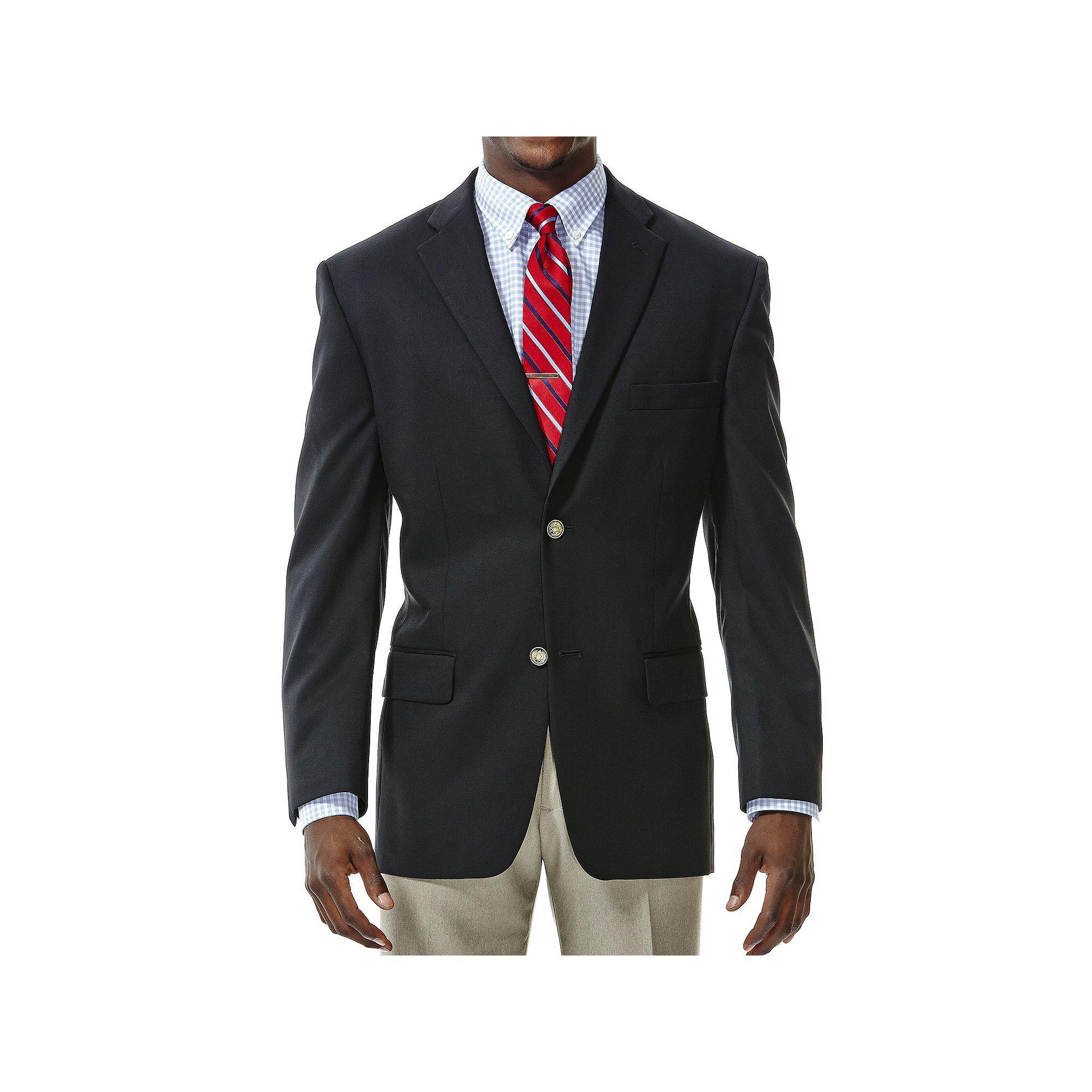 Men's Haggar Classic-Fit Solid Sport Coat, Size: 52 Long, Black