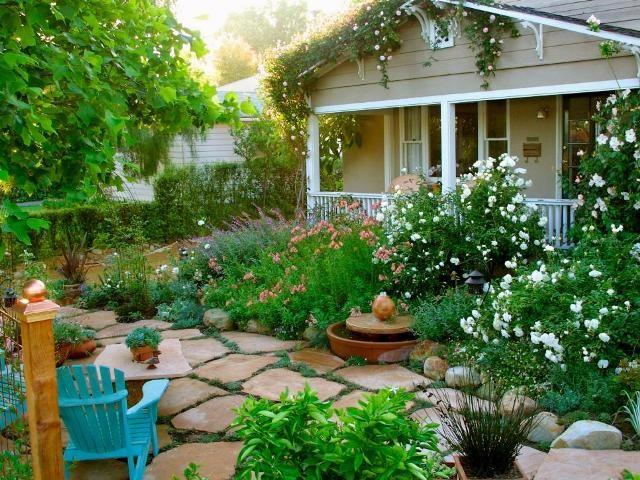 Frente Casa Patio Cottage Garden English Cottage Garden Cottage Garden Design