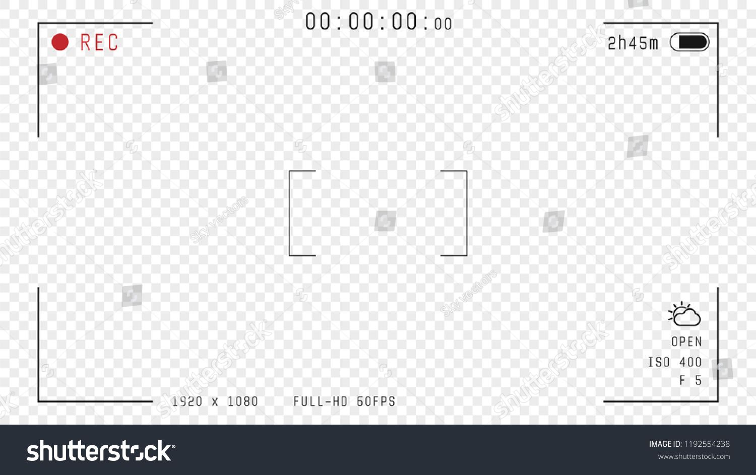 Video camera viewfinder overlay. 169 full hd format of