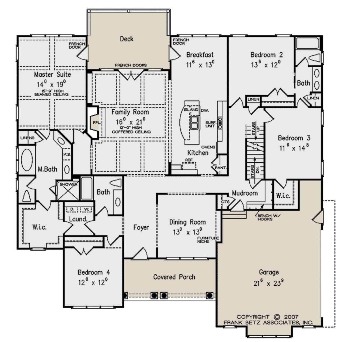 House Plan 8594 00229 Traditional Plan 2 645 Square Feet 4 Bedrooms 3 Bathrooms In 2021 House Floor Plans House Plans How To Plan