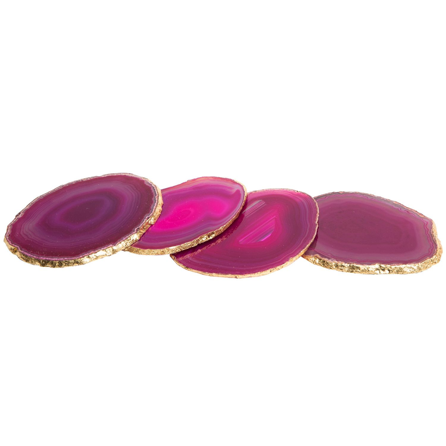 Times Two Design Agate Pink Coaster Set of 4 @Zinc_Door