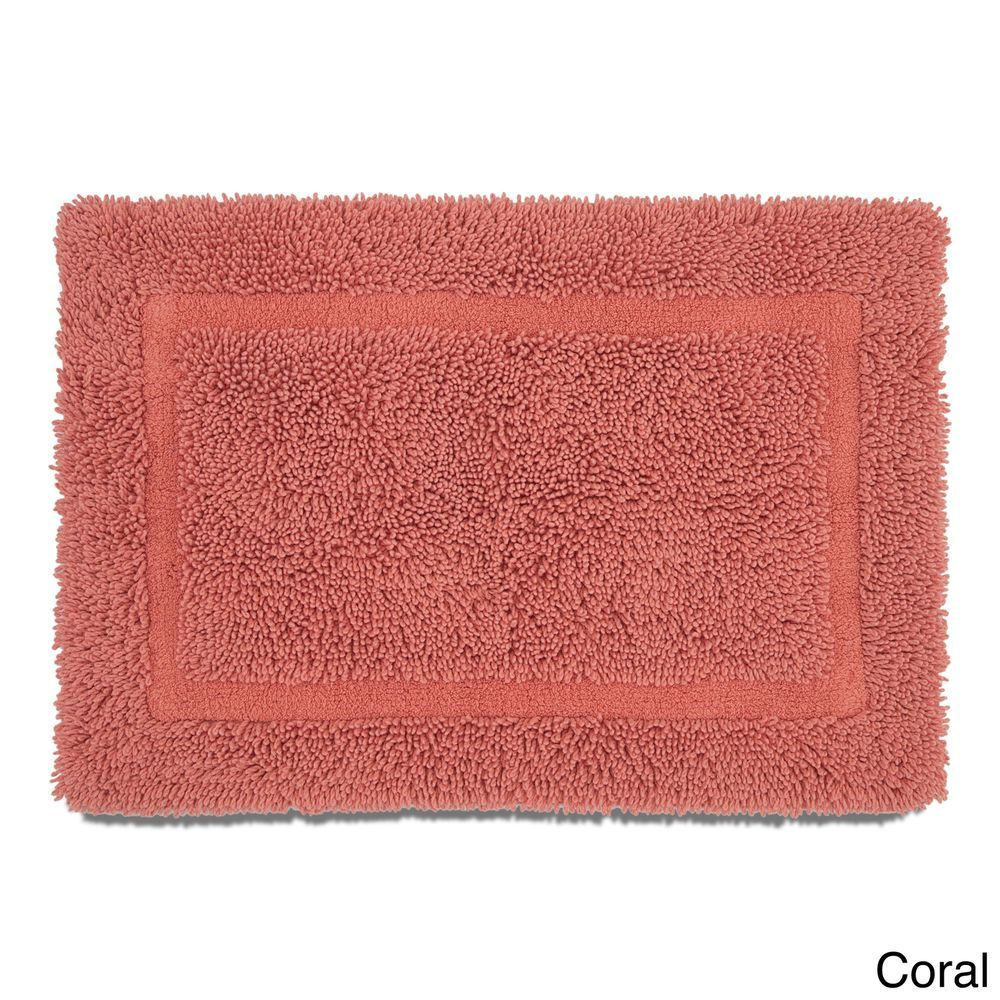 Soft Cotton C Ring Spun Bath Rug With Non Skid Latex Backing 20 X 30 Inches