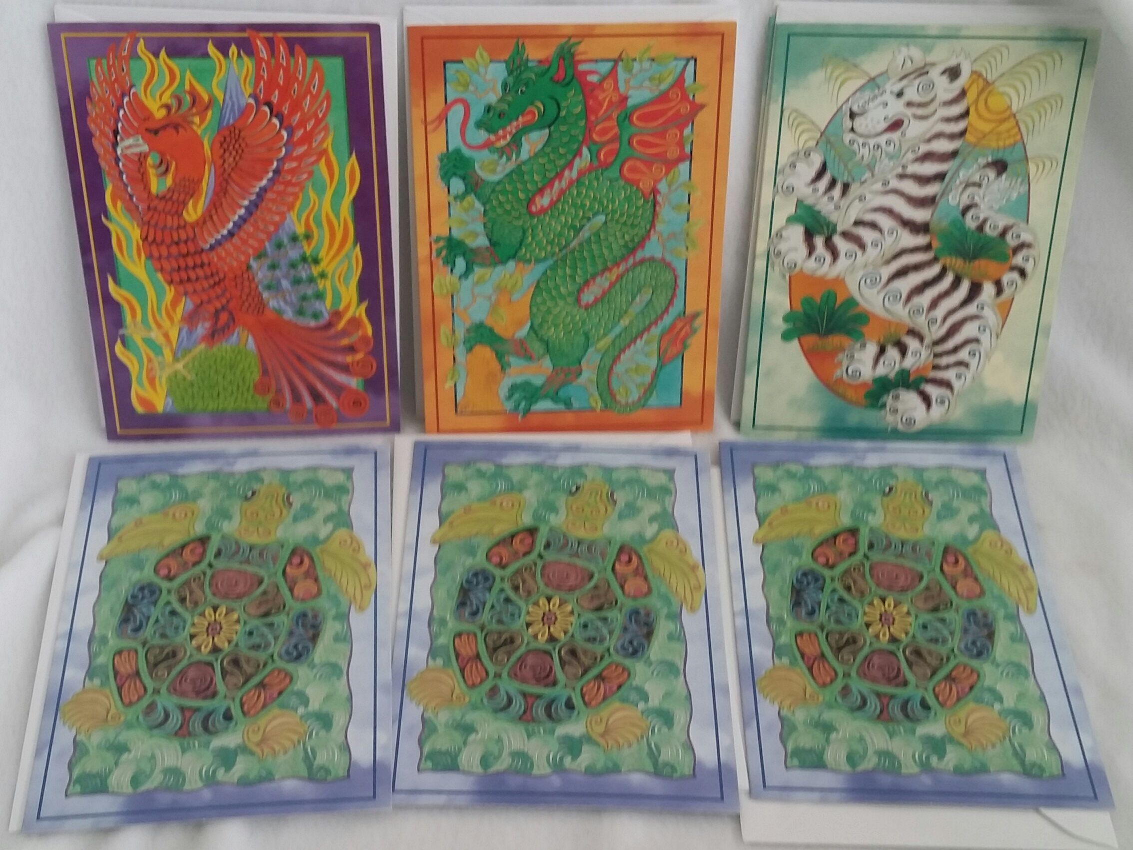 Set Of 7 Caxton Editions London Blank Greeting Cards A Phoenix