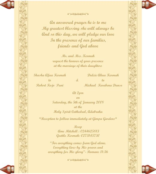 chritian wedding invitation templates – Ceremony Invitation Template