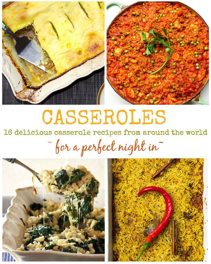 Make one of these 16 Delicious Casserole Recipes from Around the World by Panning The Globe and you'll be all set for a cosy night in.