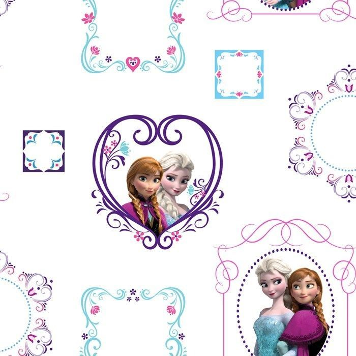 Disney Tapete  Frozen  70-539  Eiskönigin  Lila Rot Blau