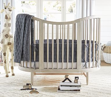 Luna Oval Crib Amp Conversion Kit Pbkids Oval Crib Baby
