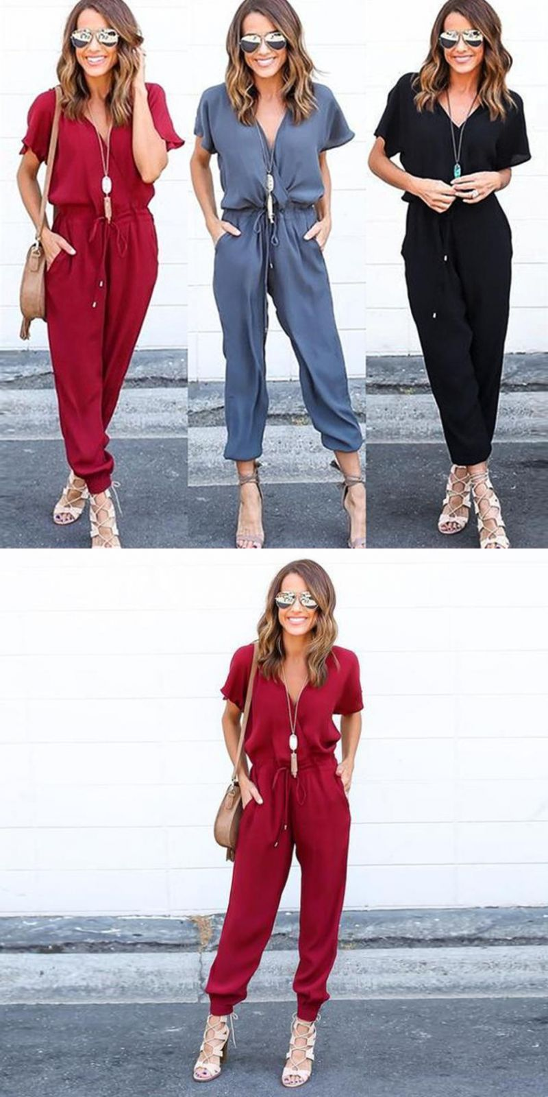 77fd01b8cd1 Discover ideas about Bodycon Jumpsuit. Women chiffon short sleeve clubwear  playsuit bodycon party jumpsuit romper ...