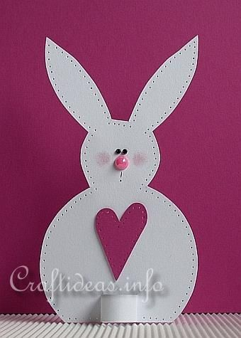 could be an easy bunny to duplicate as an example for the kids to copy and make their own bunny!?!?