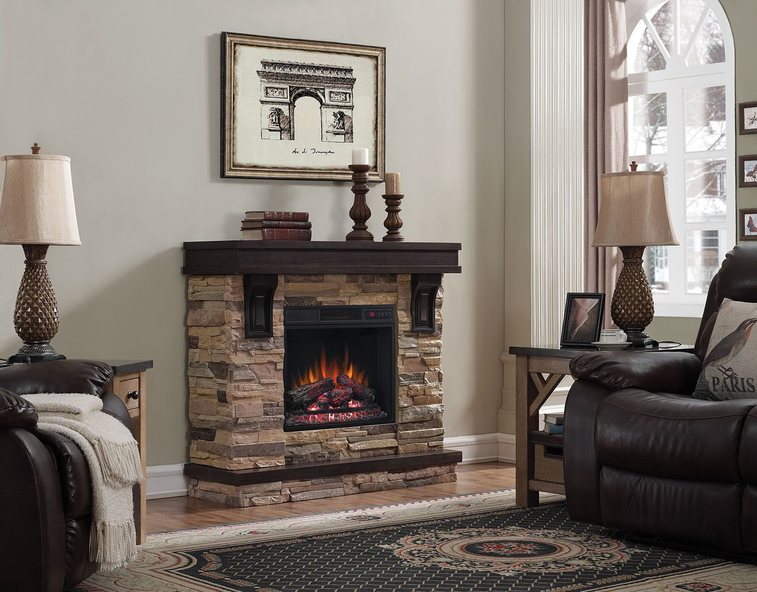 Tv television stands austin s furniture - Austin 45 Tv Stand With Log Firebox