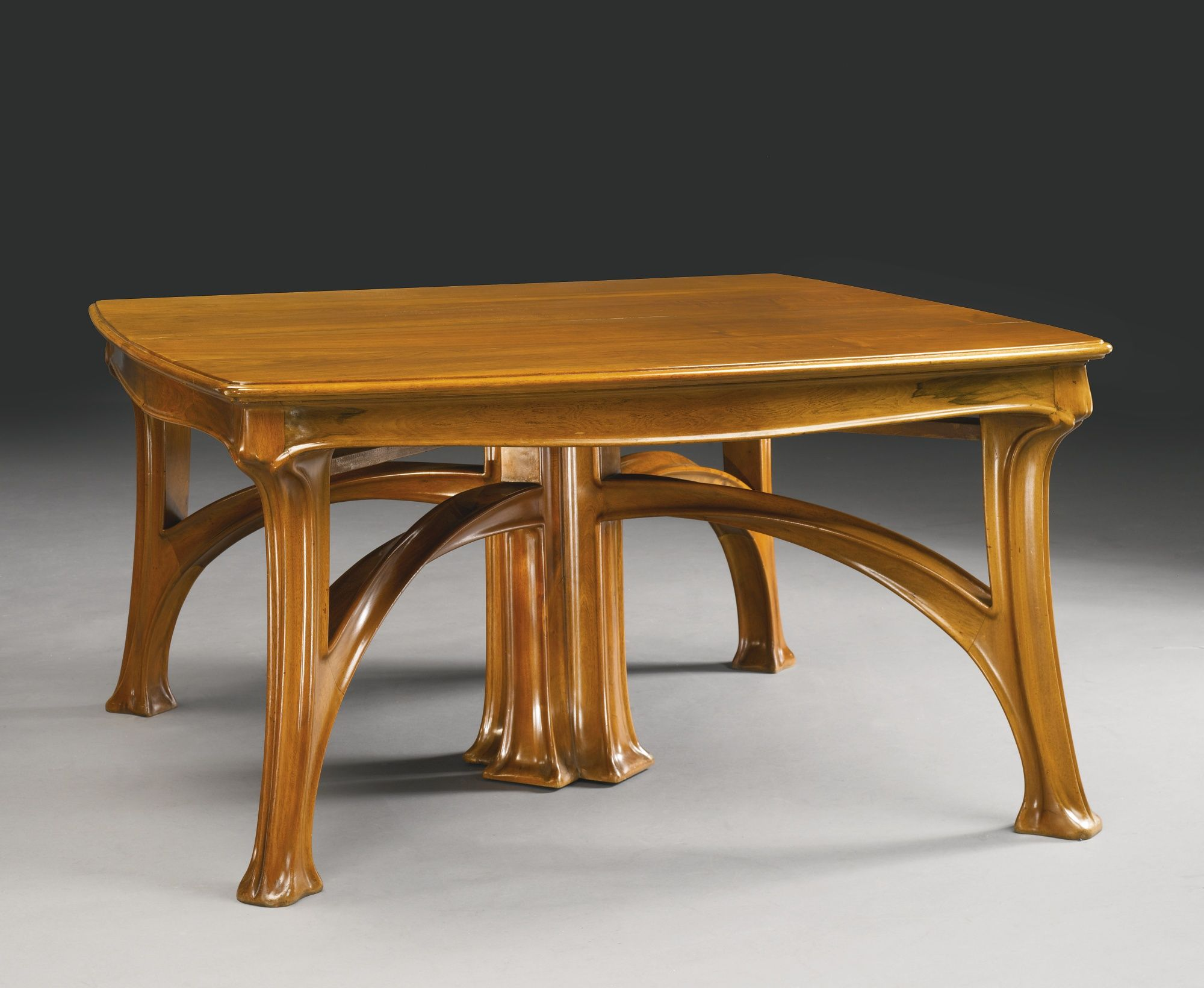 Louis Majorelle Dining Table Walnut With Three Extension Leaves 28