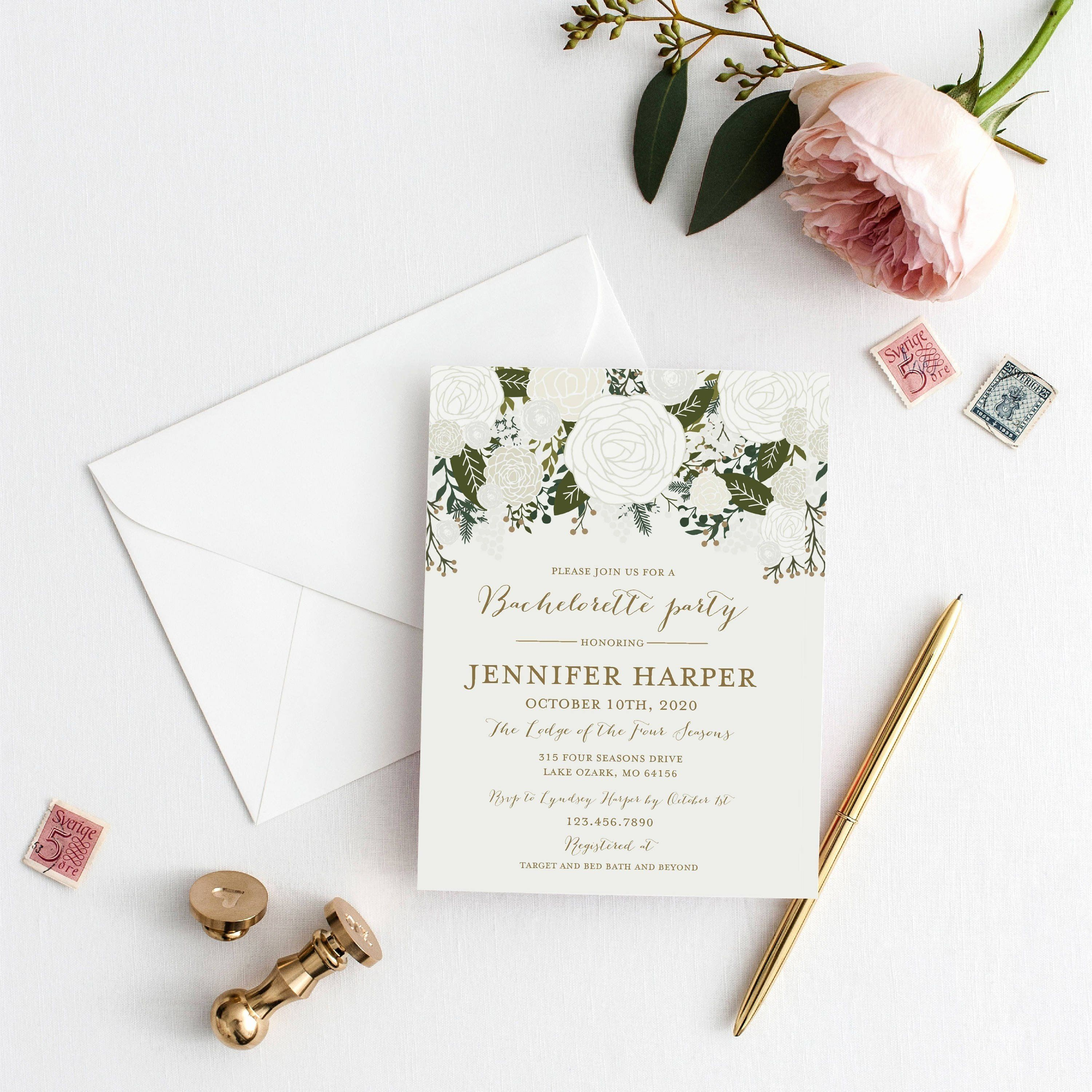Bed Bath And Beyond Invitations Beautiful New Plantable Wedding Invitations In 2020 Floral Baby Shower Invitations Printable Wedding Invitations Party Invite Template