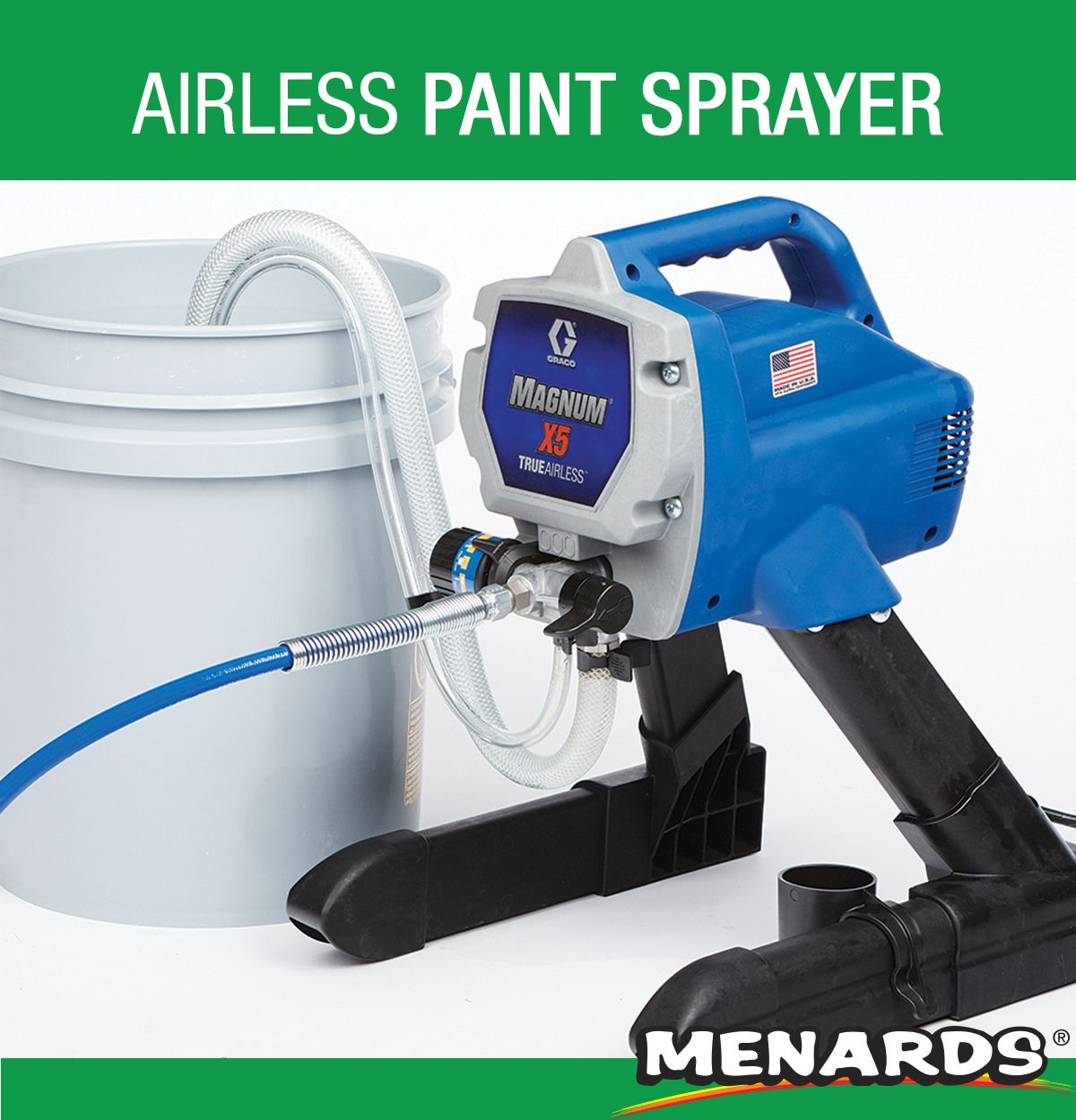 The Graco Magnum X5 Airless Paint Sprayer Is Ideal For A Homeowner Looking To Paint Walls Doors Ceilings Fences An Paint Sprayer Sprayers White Paint Colors