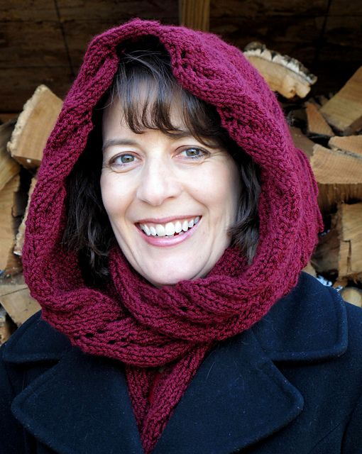 Free Pattern Curving Lattice Hooded Scarf By Jenni Hodges