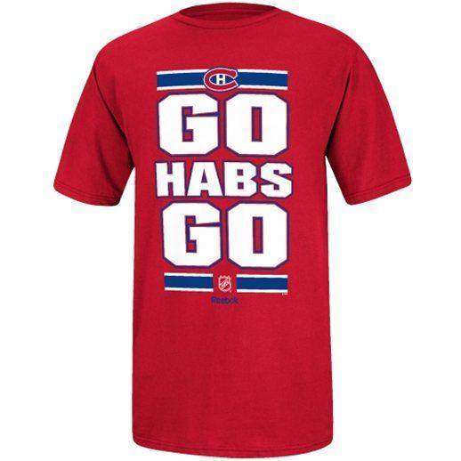 0c294559e Montreal Canadiens Reebok Go Habs Go T-Shirt  canadiens  habs  nhl ...