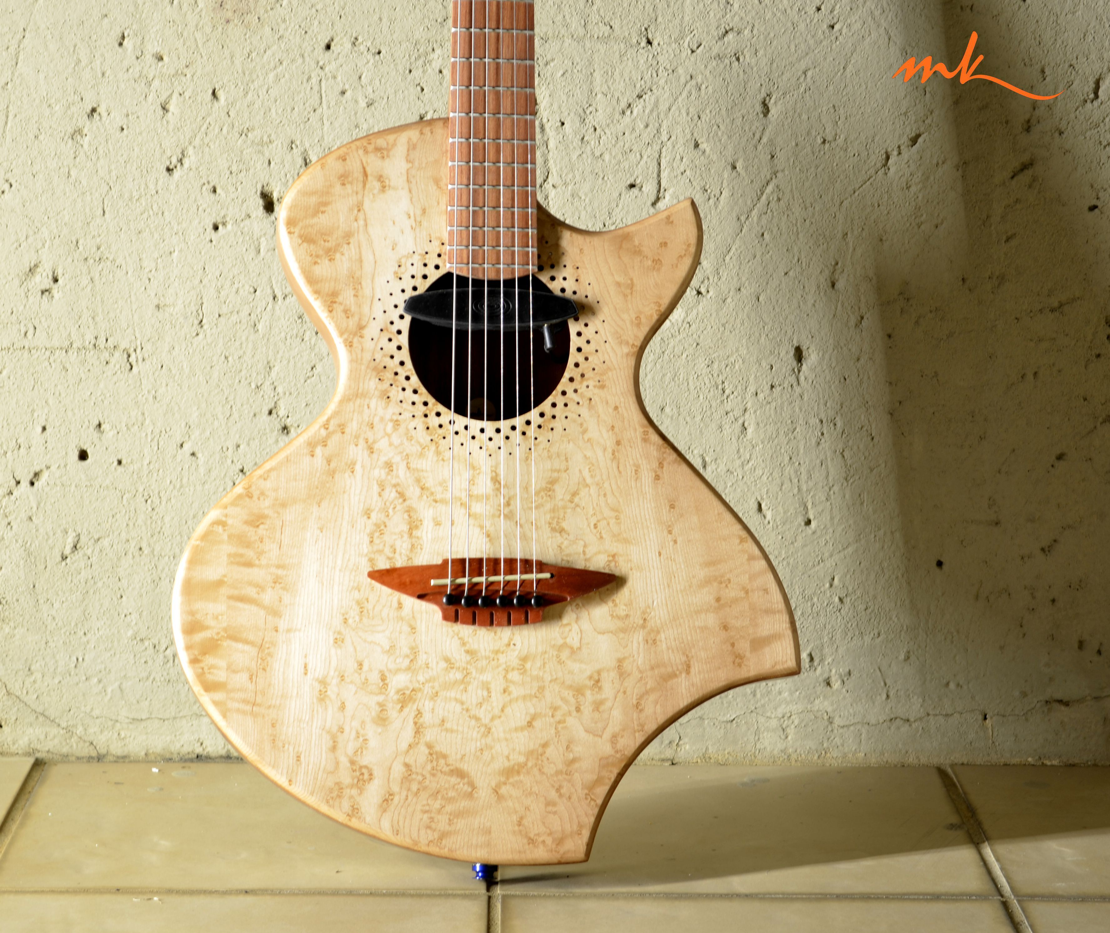 Mistral A New Thinline Acoustic Electric Hybrid Design Build By Http Murraykuun Com Wordpress Guitar Design Acoustic Guitar Guitar