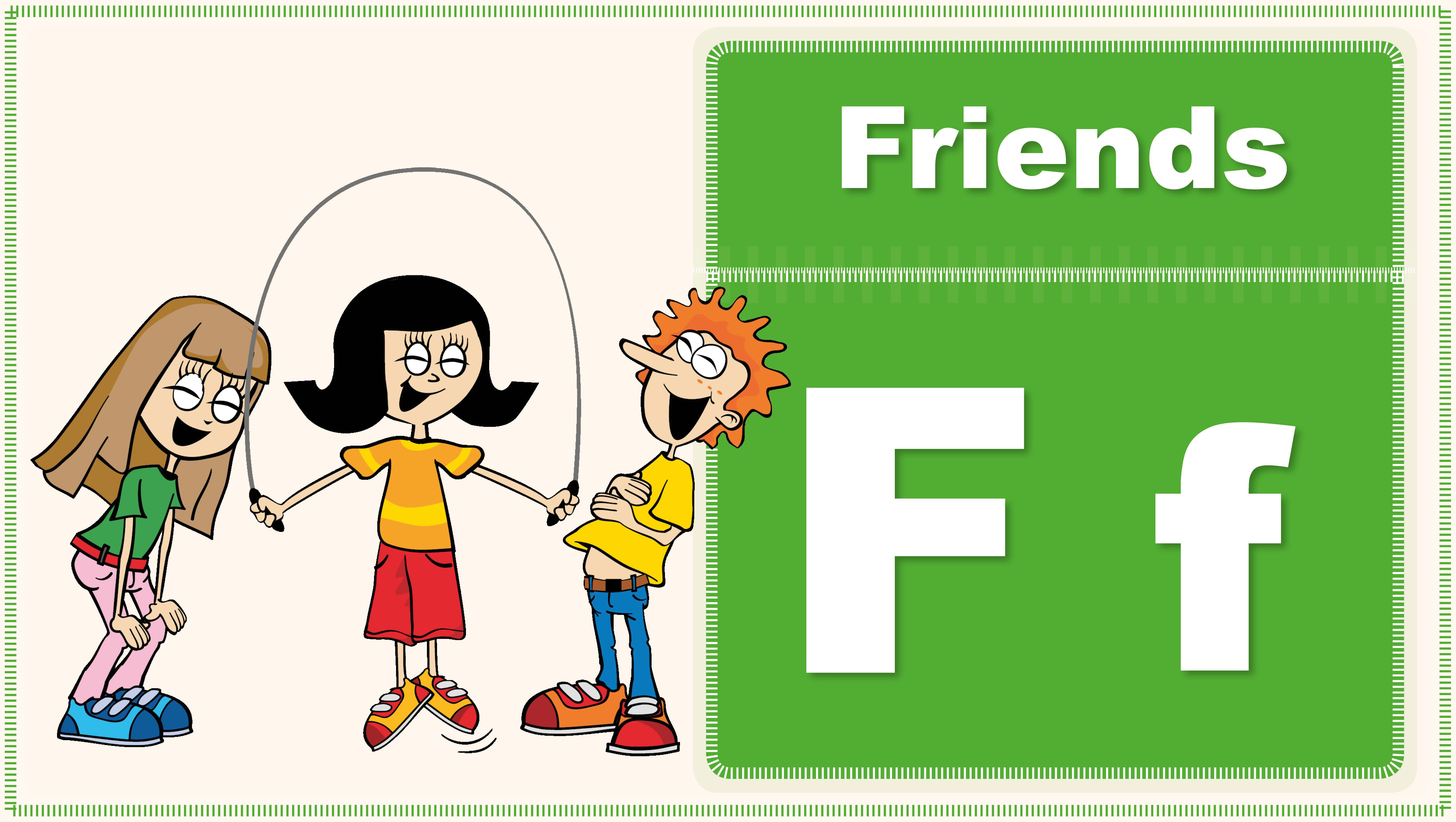 Friends Song   Letter F   Kids Songs   Little ABC   Songs for Kids ...