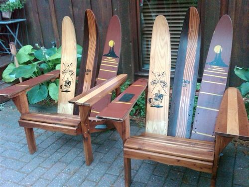 ski chairs made from waterskis – Adirondack Ski Chairs