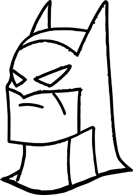 Nice Batman Head Coloring Page