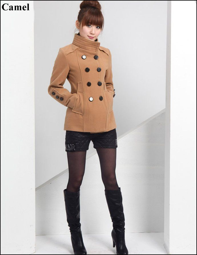 61a8f575f9c Fashionable Winter Outfits -women fashion jacket ladies winter wool coat