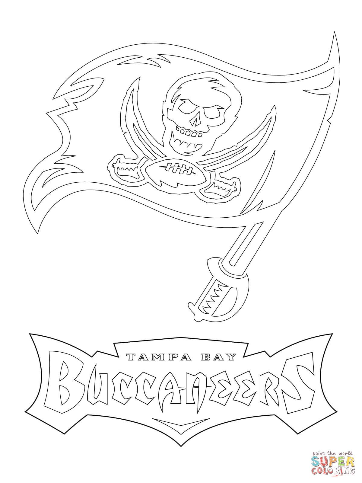 Tampa Bay Buccaneers Logo Super Coloring Tampa Bay Buccaneers Logo Coloring Pages Printable Coloring Pages