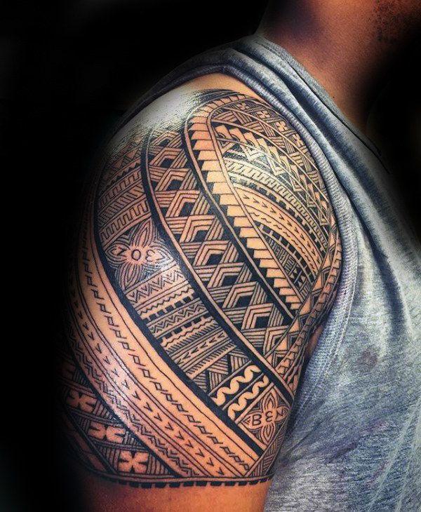 90 Samoan Tattoo Designs For Men Tribal Ink Ideas Half