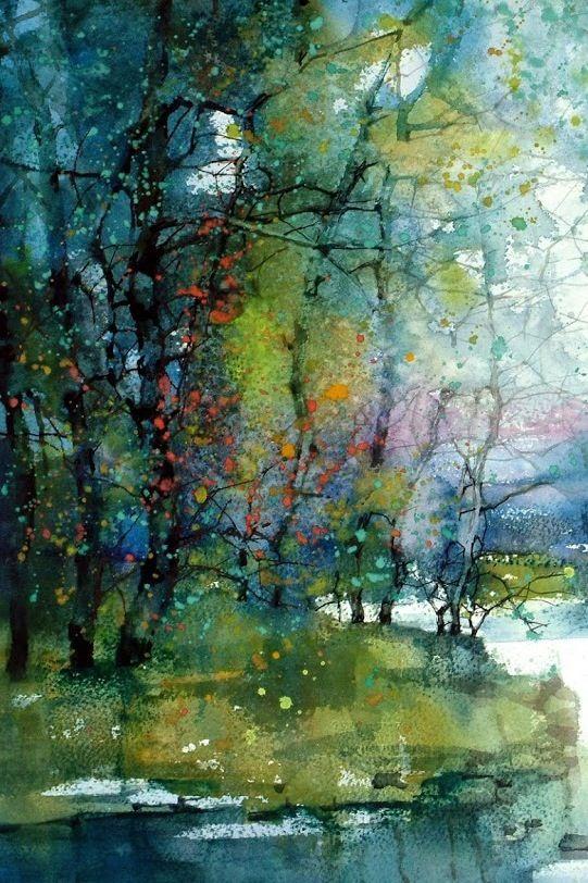 Pin Von Iris Deneke Auf Aquarell Landschaft Wasserfarben Kunst