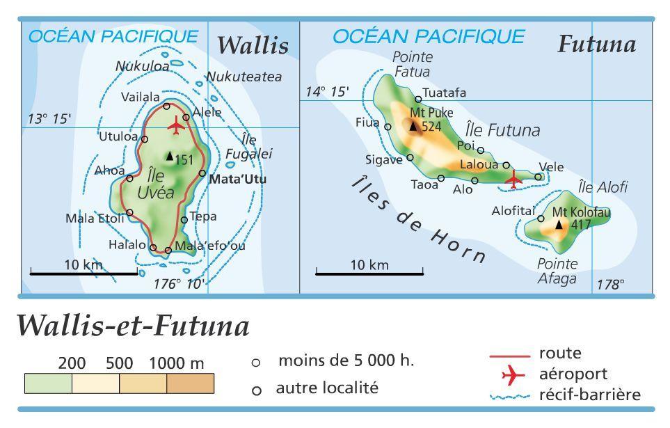 Carte Iles Wallis et Futuna