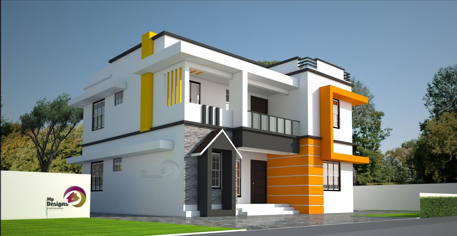 Presenting a modern contemporary style home design of 1867 sqft which can be finished in less than 32 lakhs building designer rij
