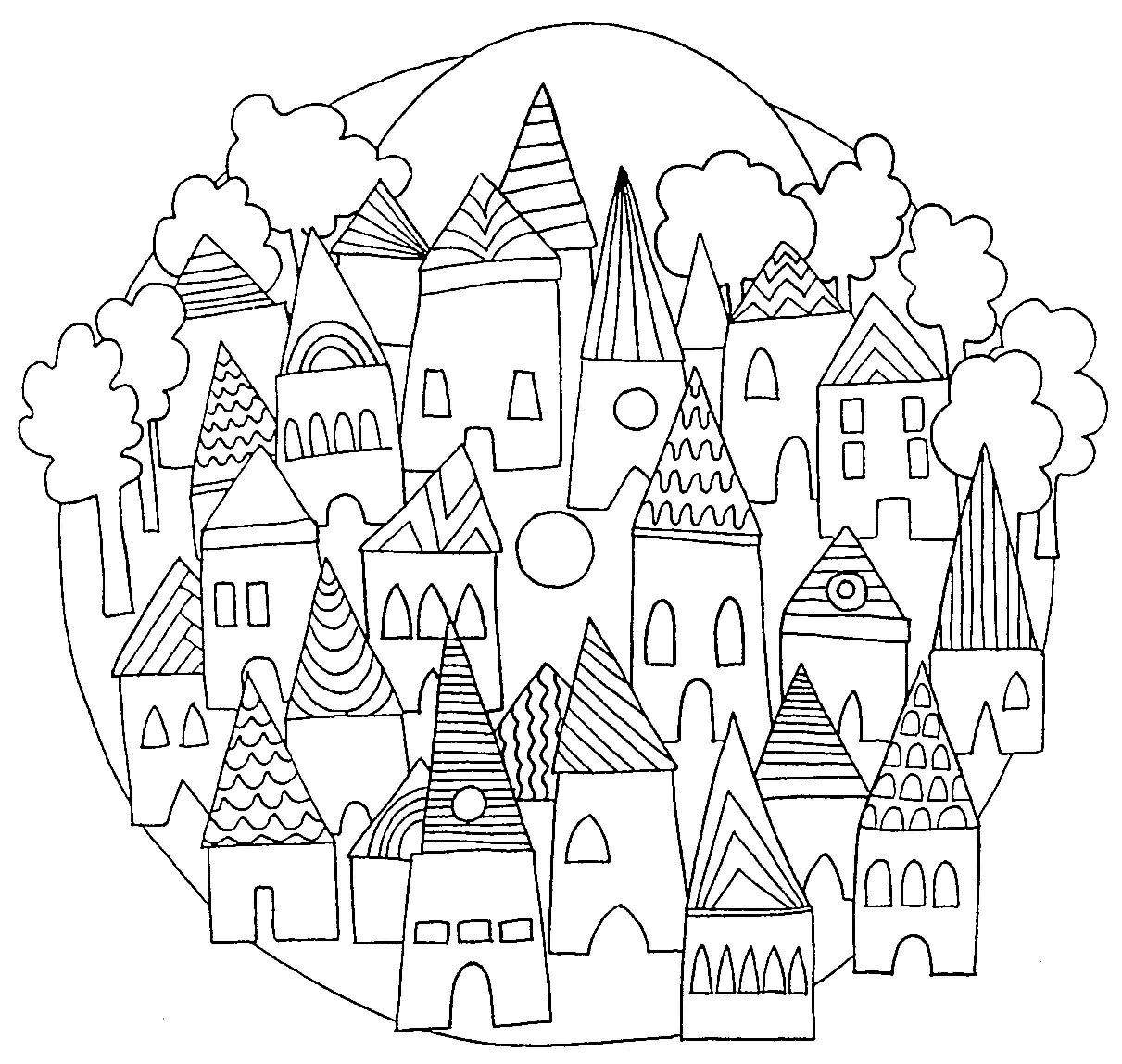 Coloriage imprimer mandala de noel 1 coloriages - Lincroyable maison book tower londres ...