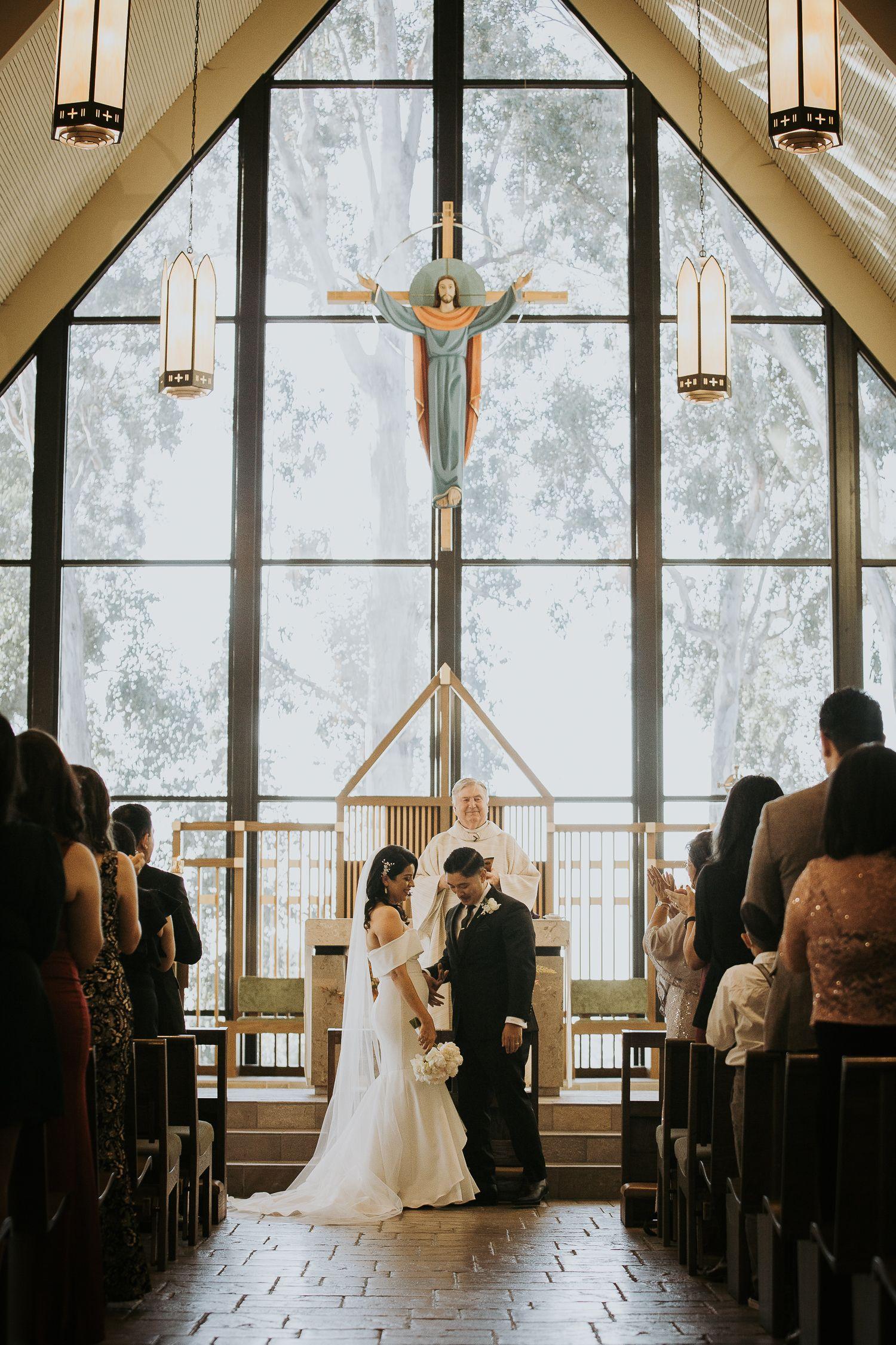Catholic Church Wedding Ceremony In 2020 Catholic Wedding Ceremony Church Wedding Ceremony Wedding Church Decor
