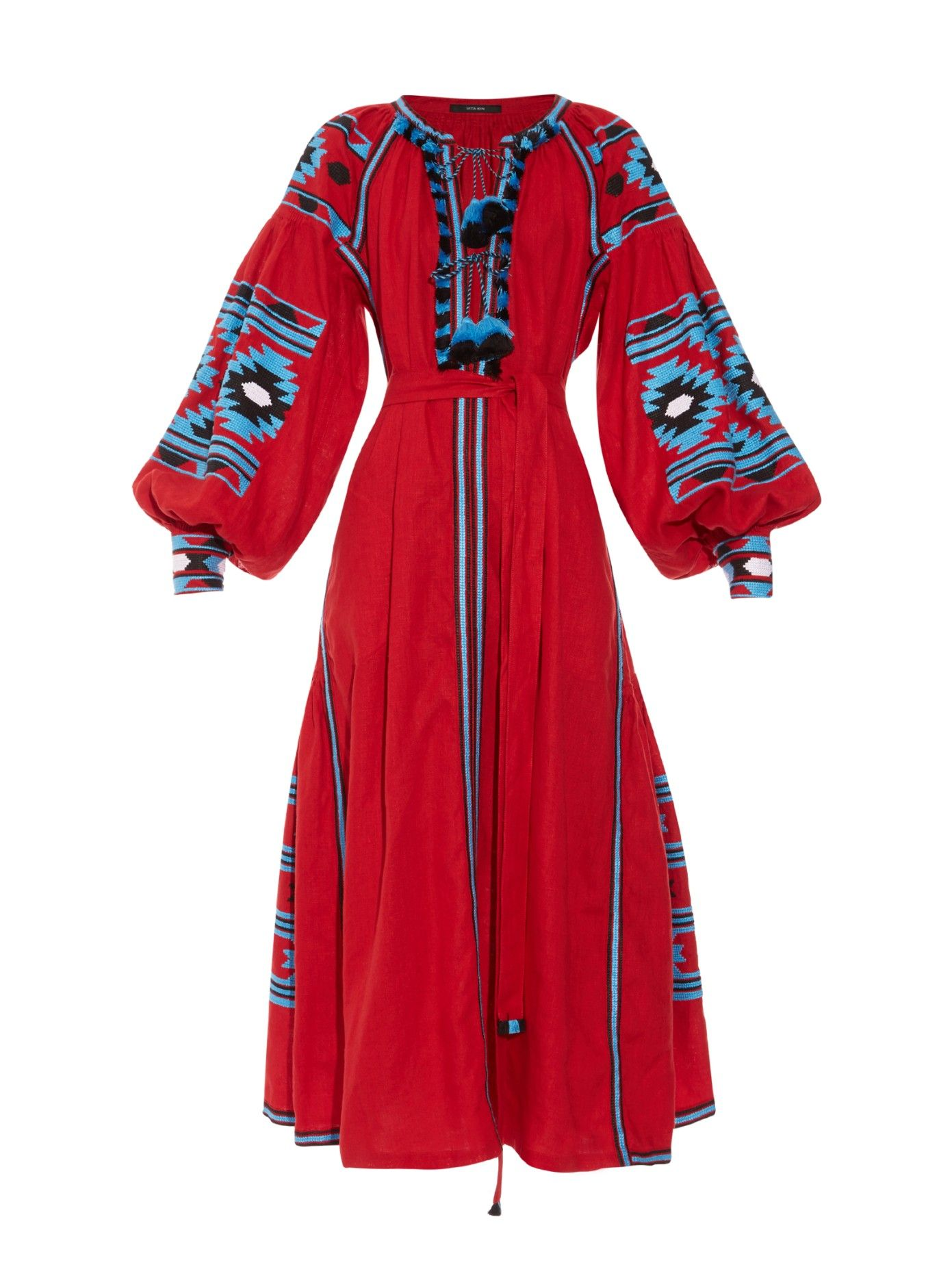 Kilimembroidered long dress by vita kin shop now at