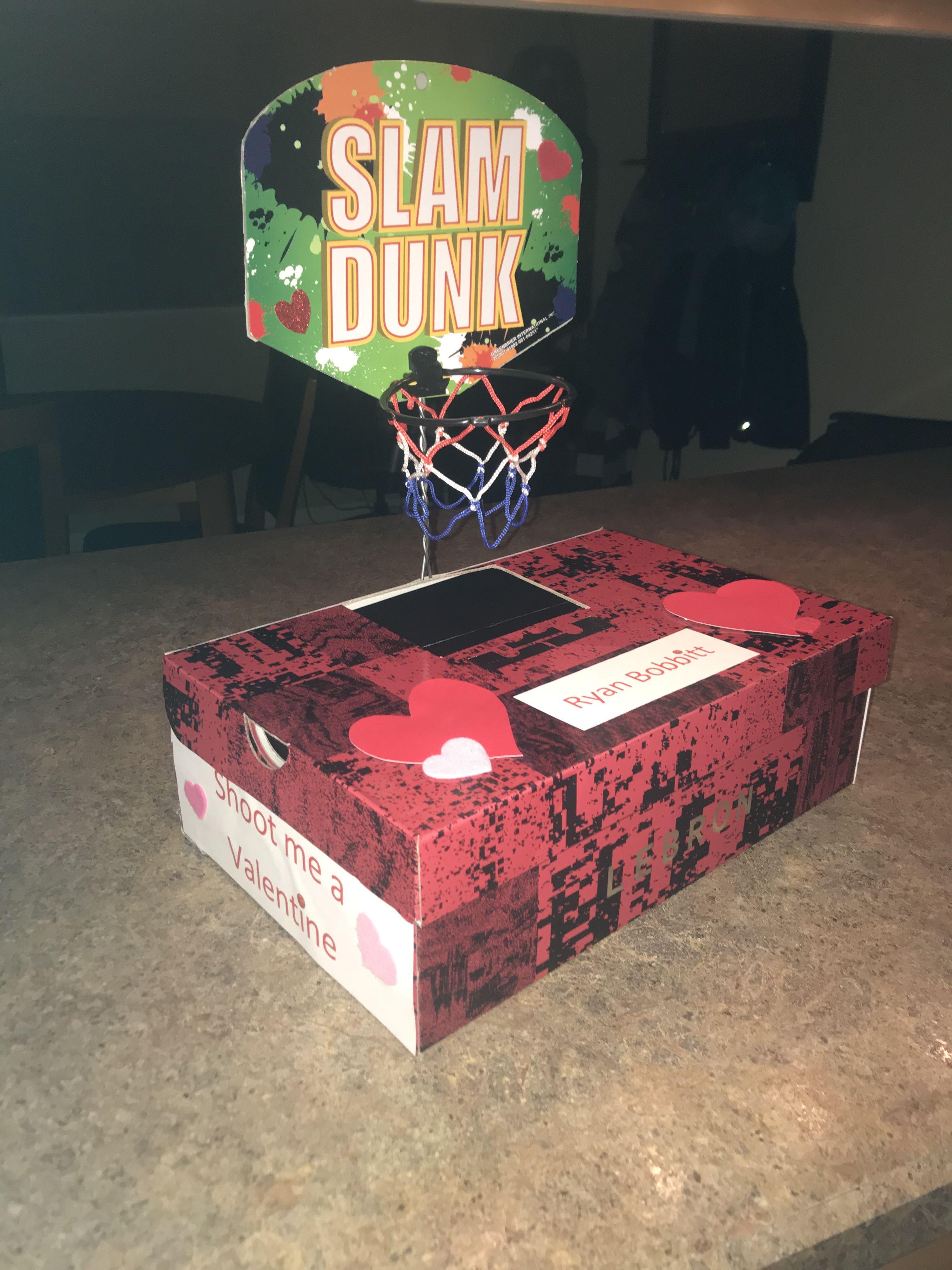 Basketball Valentine S Day Box Lebron Slamdunk Dollartree What You Need Shoebox Dollar Tree Basketball Hoop Dollar Tree F Fly Swatter Dollar Tree Crafts