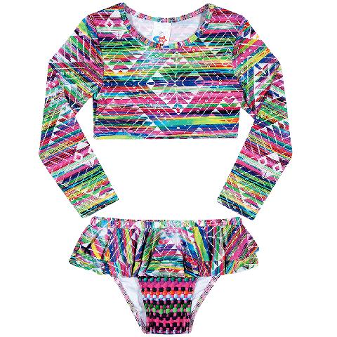 Top Cropped Infantil. Fofo biquíni com proteção UV para as princesas  arrasarem nesse verão. a73b36a7e5150