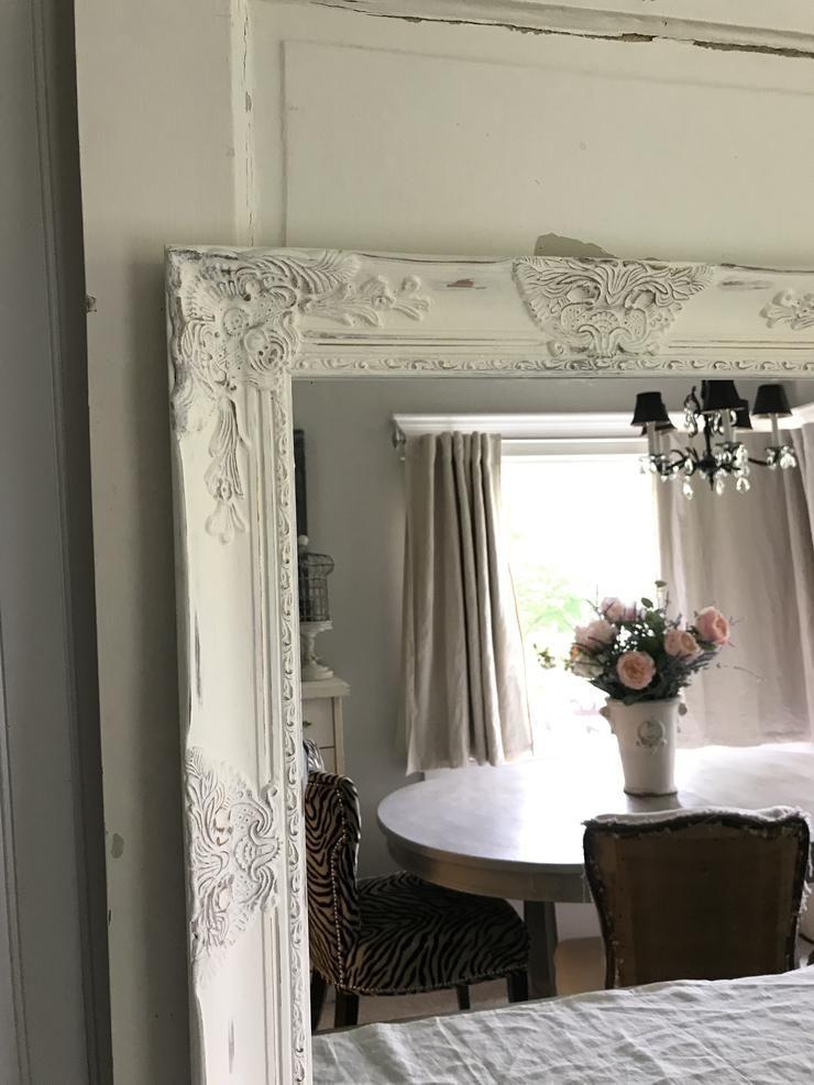 Farmhouse mirrorwall hanging mirror white distressed in