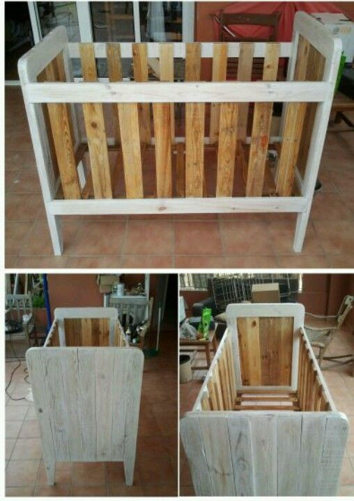 Cuna palets | Muebles y cosas | Pinterest | Pallets, Crib and Babies