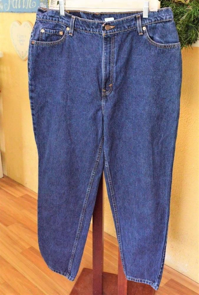 a7291b10 Vintage Levis 550 Sz 18W Short Relaxed Fit Mom Jeans Blue Tapered Leg  Classic #Levis #TaperedLegRelaxed