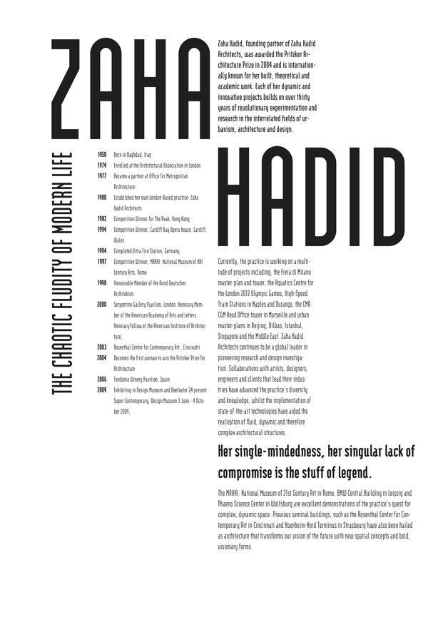 Zaha Hadid Design Concepts And Theory zaha hadid postersjulie gratz, via behance | design