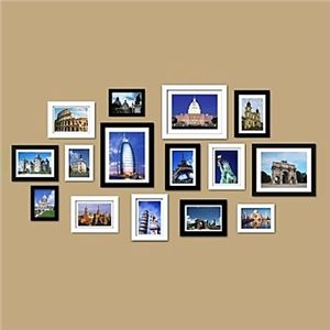 Fotowand Bilderrahmen wand bilderrahmen 15er set fz 2015 bilderrahmen collage
