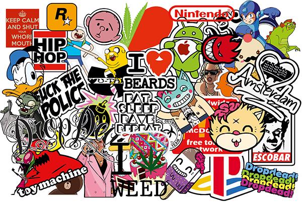 Pegatinas : Sticker Bomb para decorar tablas de surf o skate ...